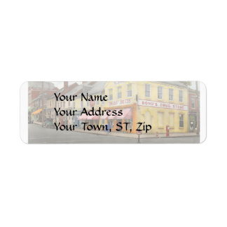 Pharmacy - WL Bond Drugs and Seeds 1927 Return Address Label