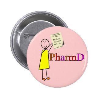 PharmD Pharmacy Student Gifts 6 Cm Round Badge