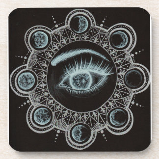 Phases of the Moon Eye Drink Coasters
