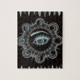 Phases of the Moon Eye Jigsaw Puzzle