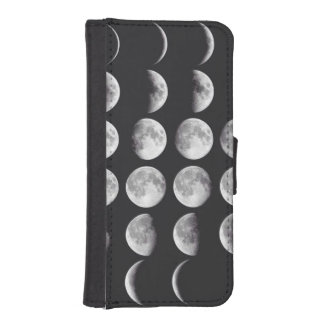 Phases of the moon iPhone SE/5/5s wallet case