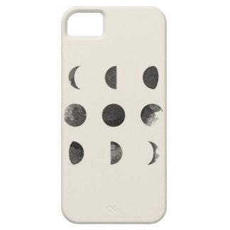 Phases of the Moon Lunar Watercolor Art iPhone 5 Case