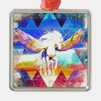 Phate-Arcynn Ahnna Jha Unicorn Metal Ornament