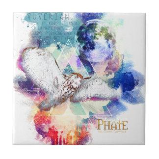 Phate-Vu Verian-The Great White Owl Ceramic Tile