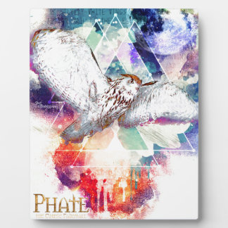 Phate-Vu Verian-The Great White Owl Plaque
