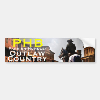 PHB Outlaw Country Bumper Sticker