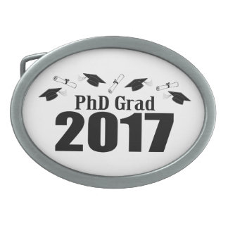 PhD Grad 2017 Caps And Diplomas (Black) Belt Buckles