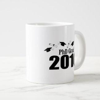 PhD Grad Class Of 2016 Caps And Diplomas (Black) Jumbo Mug