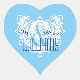 PHD Wedding Heart Sticker Winter Wonderland Damask