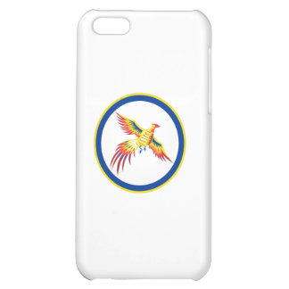 Pheasant Bird Fowl Flying Woodcut Circle iPhone 5C Case