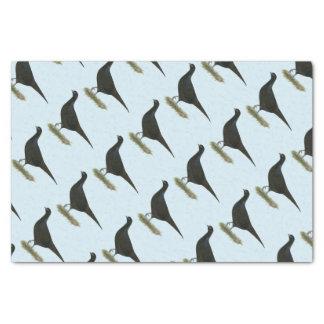 Pheasant Black Hen Tissue Paper