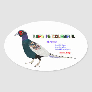 Pheasant Oval Sticker