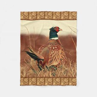 Pheasant Painting Fleece Blanket