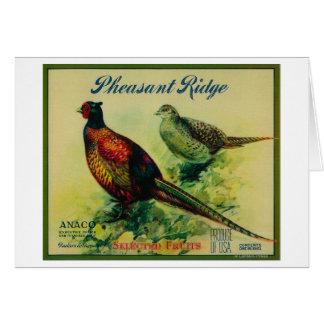 Pheasant Ridge Apple Crate Label Greeting Card