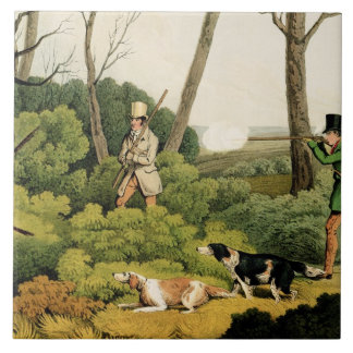 'Pheasant Shooting', pub. by Thomas McLean, 1820 ( Ceramic Tile