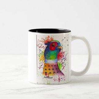 Pheasant Two-Tone Coffee Mug