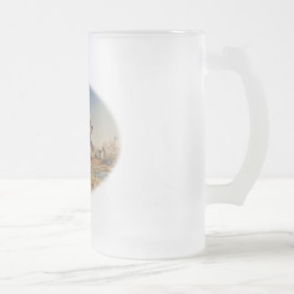 Pheasants Aloft - Great Hunting on the farm Frosted Glass Beer Mug
