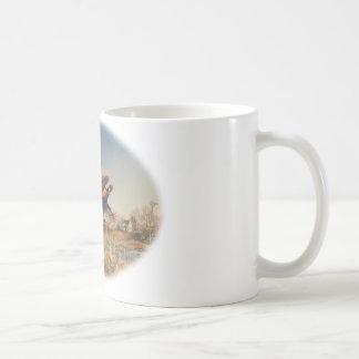 Pheasants Aloft - Great Hunting on the farm Coffee Mug