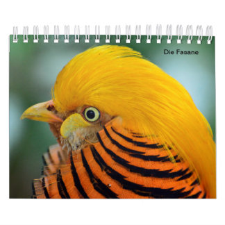 Pheasants as calendars