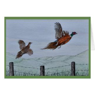 Pheasants in Flight Card