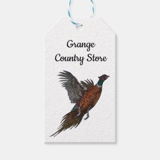 Pheasants in Flight Gift tag