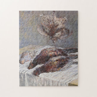 Pheasants Woodcocks & Partridges Monet Fine Art Jigsaw Puzzle