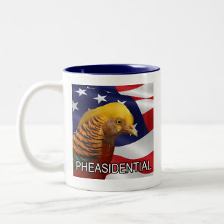 Pheasidential Pheasant Two-Tone Coffee Mug