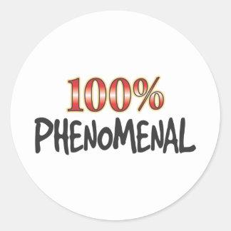 Phenomenal 100 Percent Classic Round Sticker
