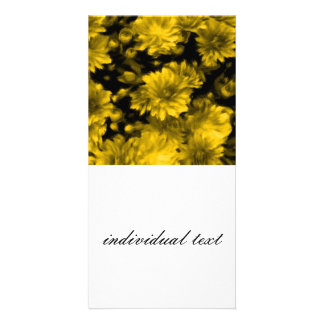 phenomenal blossoms yellow (I) Personalized Photo Card