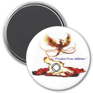 Pheonix Free 7.5 Cm Round Magnet