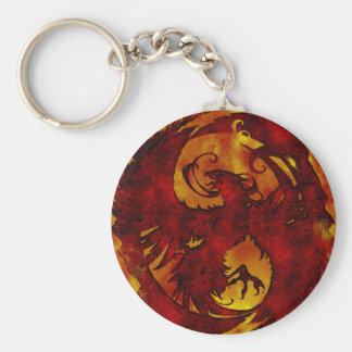 Pheonix Rising Fantasy 2 Basic Round Button Key Ring