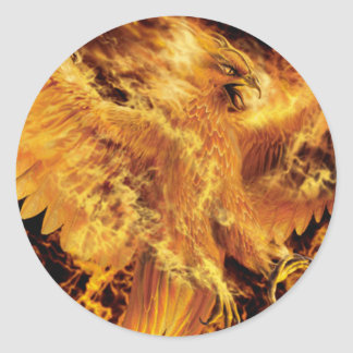 pheonix round sticker