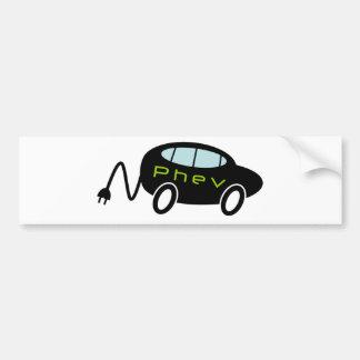 PHEV car and plug Car Bumper Sticker