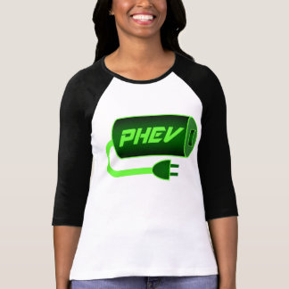 PHEV green battery and plug T Shirt