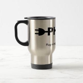 PHEV pump and plug Stainless Steel Travel Mug