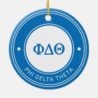 Phi Delta Theta   Badge Ceramic Ornament