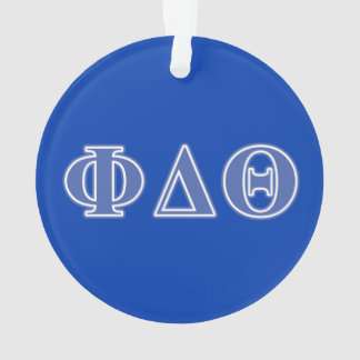 Phi Delta Theta Royal Blue Letters Ornament