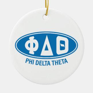 Phi Delta Theta   Vintage Ceramic Ornament