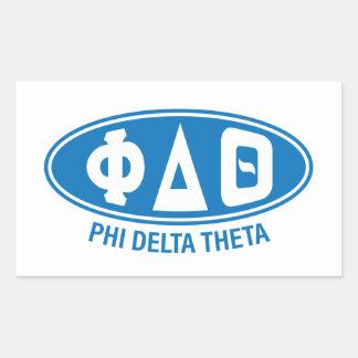 Phi Delta Theta | Vintage Rectangular Sticker