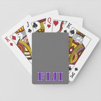 Phi Gamma Delta Purple Letters Playing Cards