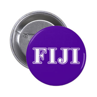 Phi Gamma Delta Whie and Purple Letters 6 Cm Round Badge