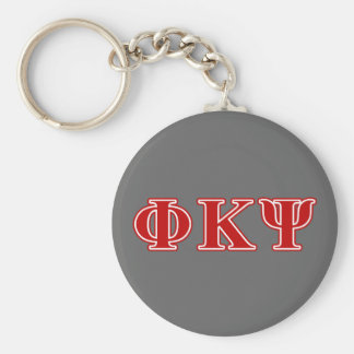 Phi Kappa Psi Red Letters Key Ring