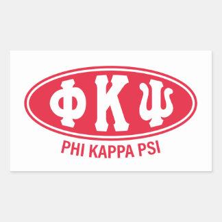 Phi Kappa Psi   Vintage Rectangular Sticker