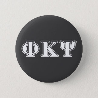 Phi Kappa Psi White Letters 6 Cm Round Badge