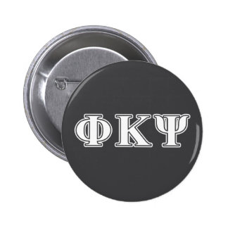 Phi Kappa Psi White Letters 6 Cm Round Badge