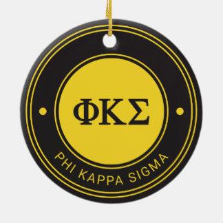 Phi Kappa Sigma | Badge Ceramic Ornament
