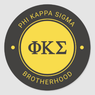 Phi Kappa Sigma | Badge Classic Round Sticker