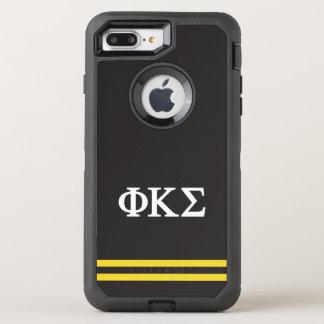 Phi Kappa Sigma   Sport Stripe OtterBox Defender iPhone 8 Plus/7 Plus Case