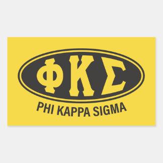 Phi Kappa Sigma | Vintage Rectangular Sticker