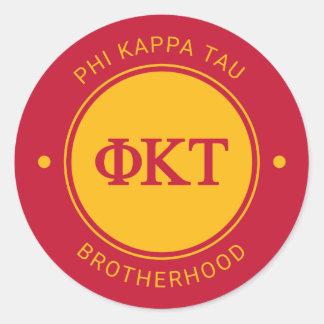 Phi Kappa Tau | Badge Classic Round Sticker